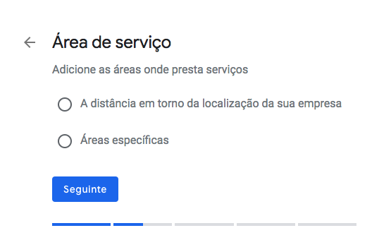 area fornecimento google my business