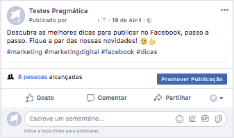 dicas publicar facebook