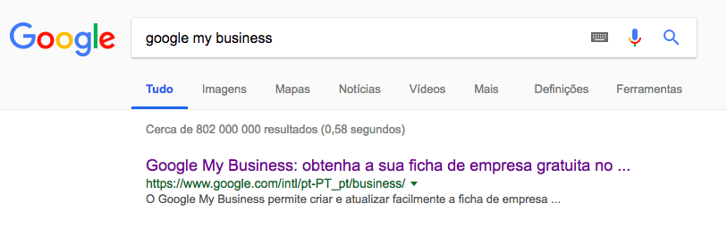 procurar google my business