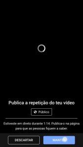 publicar video cronologia